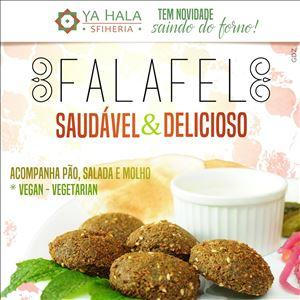 Falafel  (5 Faláfeis+salada+2 pães+molho Tarator)