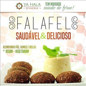 Faláfel +homus.( 5 Faláfeis +homus+2 pães+molho Tarator)