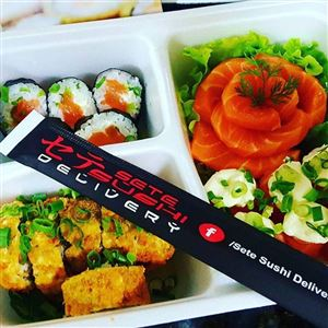 Combo ( 20 peças ) 5 hot + 5 phila + 5 joes + 5 sashimis