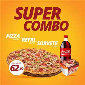 Super Combo (Pizza Grande + Refri + Sorvete)