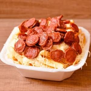 Promoção 500g de batata com queijo e calabresa
