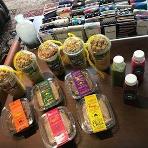 KIT Semanal 5 Saladas + 5 sanduíches + 5 sucos detox